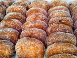 Filled doughnuts, hot and yumy