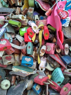 Love locks and a geocache!